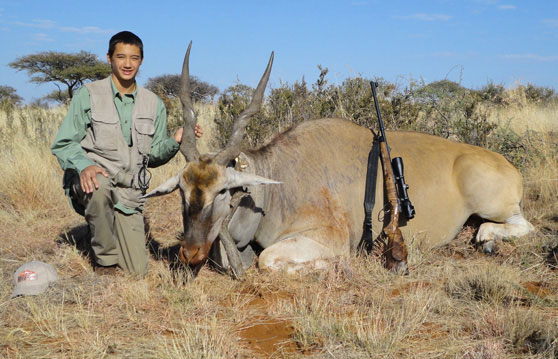 William Eike with Eland