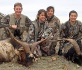 Kilimanjaro Founder Erik Eike and family and Trophy of Feral Goats