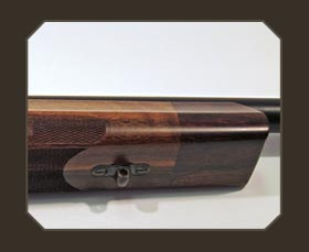 beaver-tail shape of custom rifle stock