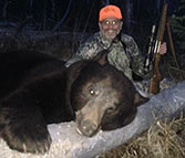 400 lb. chocolate bear taken with Kilimanjaro rifle