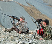 Erik Eike takes aim at Bull Tahr