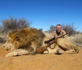 Kilimanjaro custom rifles sykes lion hunting