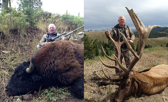 buffalo and elk trophy shots