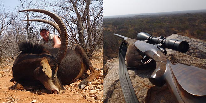 trophy shot with Kilimanjaro rifle
